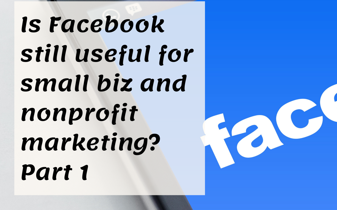 Is Facebook still useful for small biz and nonprofit marketing? Part 1 | DigiIndia Squad Podcast